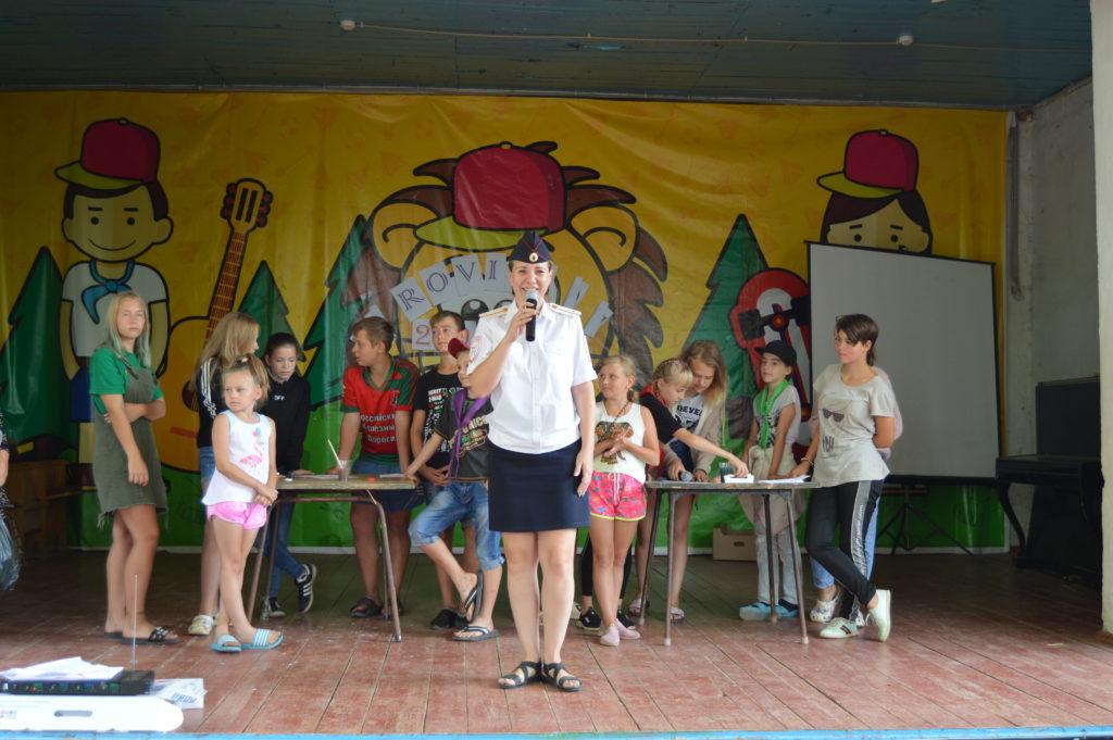 Камышинская Госавтоинспекция снова провела в детском лагере «Солнечный» конкурс-викторину по правилам дорожного движения