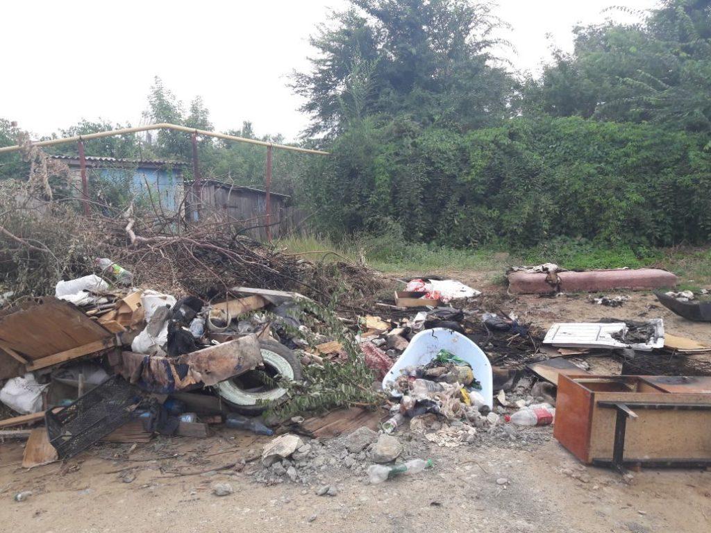 Верхний поселок консервного завода в Камышине погряз в мусоре